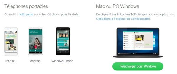 whatsapp lance une application de bureau pour pc windows et pour mac blog du mod rateur. Black Bedroom Furniture Sets. Home Design Ideas