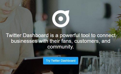 dashboard Twitter est disponible France