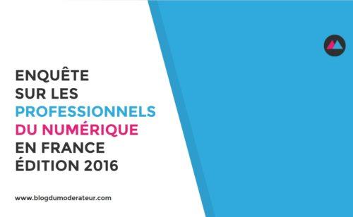 Enquête professionnels numérique France – Édition 2016