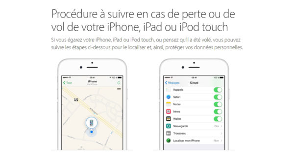 localiser iphone volé eteint