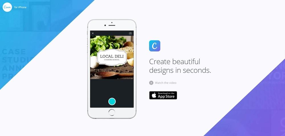 Canva, l'app de création d'images pour les réseaux sociaux, est disponible sur iPhone