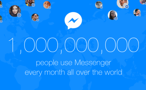 1 milliard d'utilisateurs Facebook Messenger