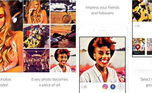 Prisma   l'application transforme photos œuvres d'art