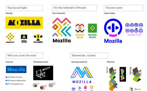 Nouveau logo Mozilla   découvrez 7 projets retenus donnez avis