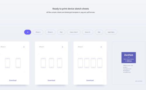 Sketchsheets   imprimer principaux modèles d'interfaces web mobile