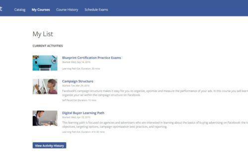 Facebook lance officiellement certification BluePrint payante