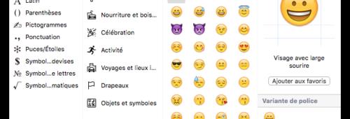 Comment insérer emojis depuis Mac PC Windows