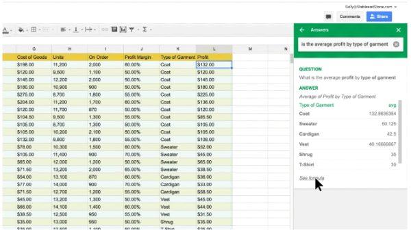 google-sheets-formules