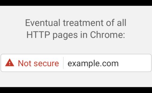 sites HTTP seront bientôt considérés comme «non-sécurisés» Google Chrome