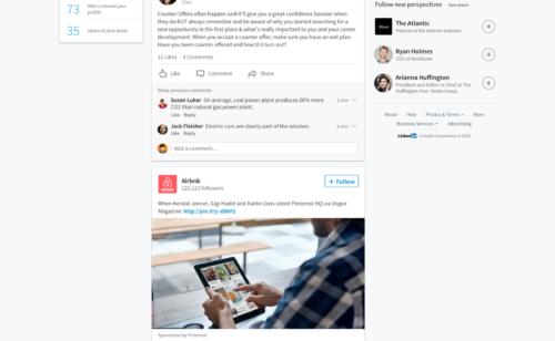 LinkedIn   nouveau design desktop