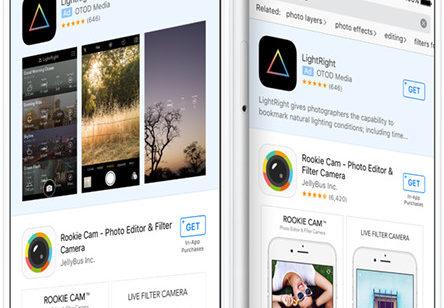 Publicité l'App Store   applications sponsorisées résultats recherche