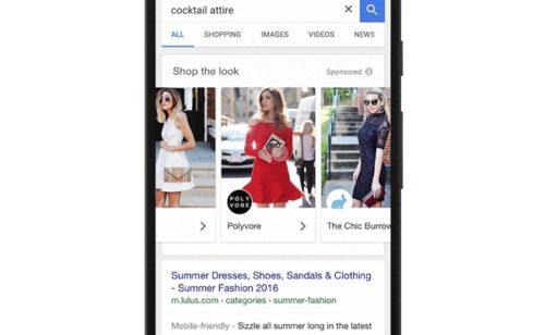 Shop the Look   Google lance nouvelle expérience publicitaire adaptée prêt-à-porter