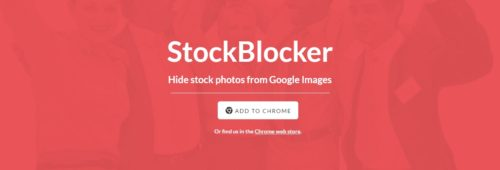 StockBlocker  masquer photos banques d'images Google Images