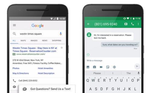 SMS Direct   nouveau format AdWords envoyer SMS via résultats sponsorisés