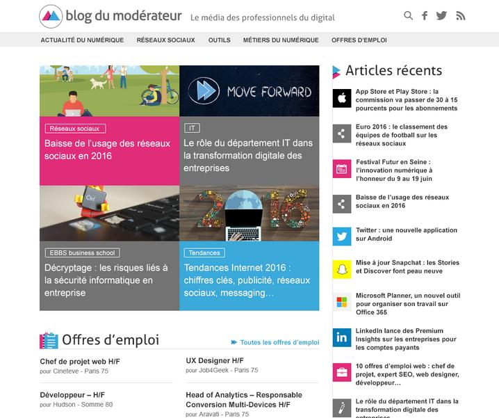 Blog du Modérateur - Le média des professionnels du digital