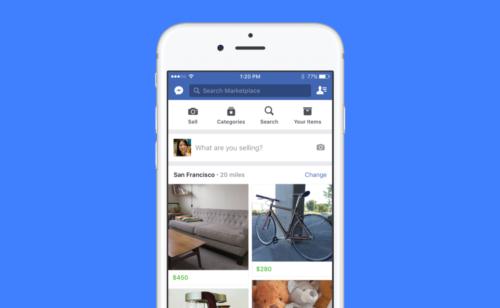 Facebook lance Marketplace  acheter vendre produits Facebook