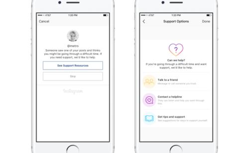 Instagram   nouvelles options signalement prévention suicide