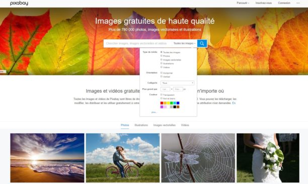 Pixabay : un moteur de recherche gratuit de 780 000 images libres de droit