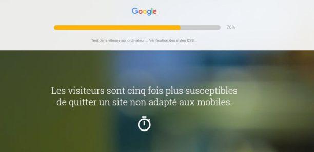 Google : lancement d'un outil gratuit pour tester les performances de son site