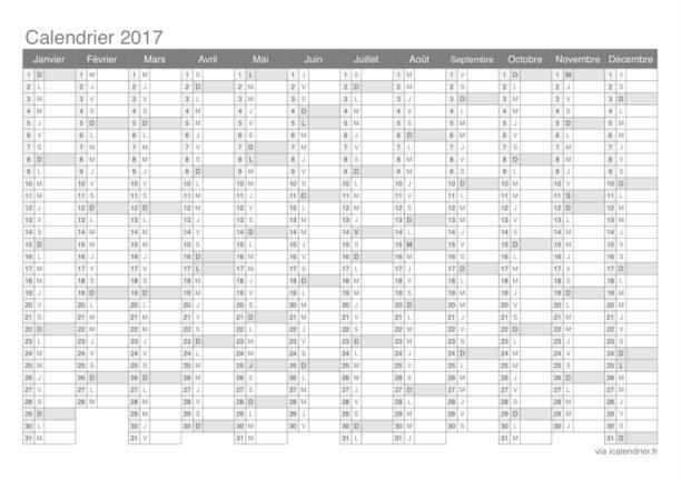 Le calendrier 2017 à imprimer - Blog du Modérateur