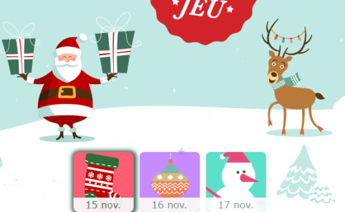 Concours   10 «calendriers l'avent» responsive cross-canaux gagner