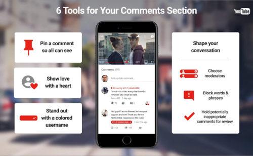 YouTube   4 nouveaux outils gérer modérer commentaires