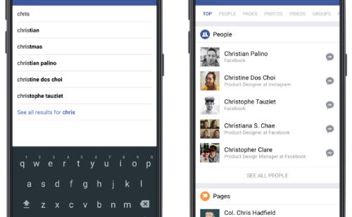 Facebook   nouveau design moteur recherche améliorer pertinence
