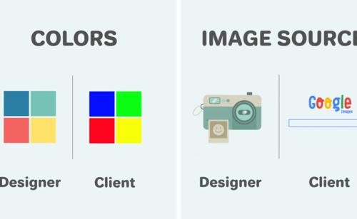 Designers vs. clients   différences point vue illustrées vidéo