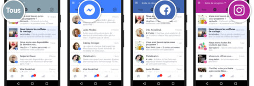 Facebook   interface unifiée gérer messages commentaires Messenger  Facebook Instagram
