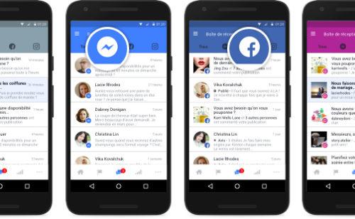 Facebook   interface unifiée gérer messages commentaires Messenger  Facebook Instagram