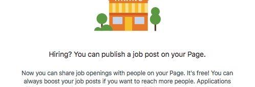Bientôt offres d'emploi Facebook