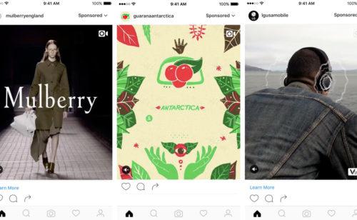 publicités verticales arrivent Instagram