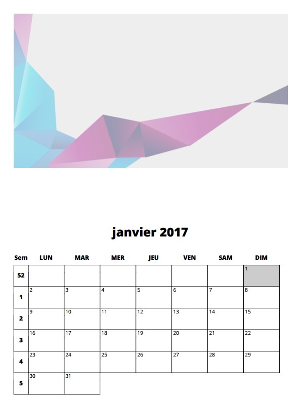 le calendrier 2017 imprimer blog du mod rateur. Black Bedroom Furniture Sets. Home Design Ideas