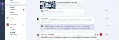 Microsoft officialise Teams  alternative Slack fluidifier communication interne