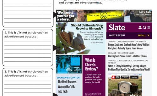 82% étudiants font différence entre information contenu sponsorisé