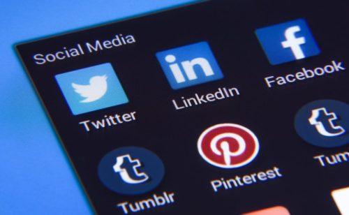 Étude   l'usage Facebook  Instagram  Pinterest  LinkedIn Twitter US 2016