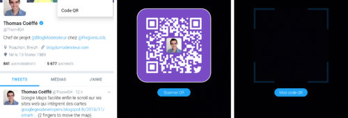 Twitter   QR code suivre utilisateurs  comme Snapchat