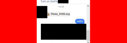 Facebook Messenger   cliquez l'image .SVG  c'est virus