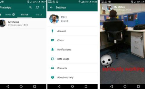 WhatsApp Status   copie conforme stories Snapchat disponible bêta