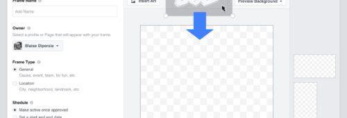 Facebook   créer cadre personnalisé photos vidéos