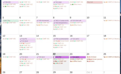 Améliorer design Google Agenda Clean Google Calendar