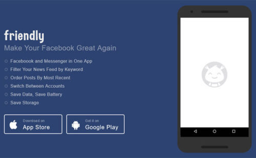 Friendly   Facebook Messenger application mobile