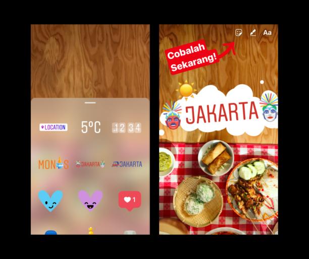Instagram : les stickers géolocalisés arrivent dans les Stories