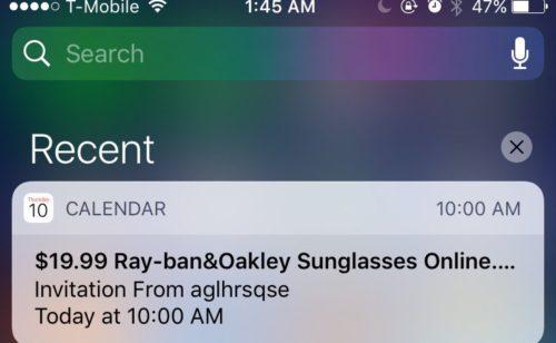 Comment supprimer invitations indésirables iCloud Apple Calendar