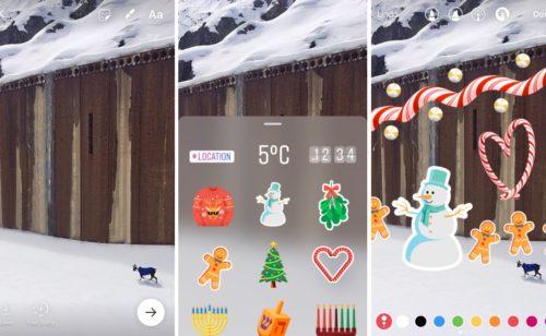 Instagram   stickers arrivent stories (lieu  température  heure  images…)
