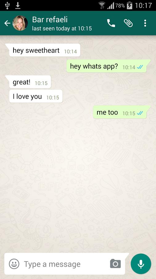 Fake WhatsApp conversations