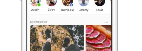 Facebook teste diffusion publicités l'écran d'accueil Messenger