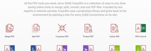 Foxyutils   outil gratuit modifier convertir fichiers PDF