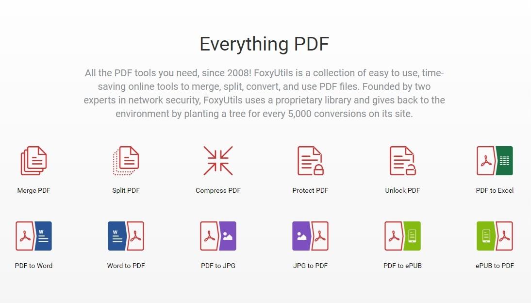 foxyutils   un outil gratuit pour modifier et convertir ses fichiers pdf
