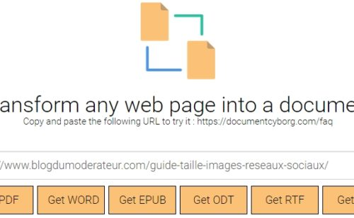 outil convertir page web fichier PDF Word